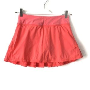 """Ivivva Neon Coral """"Set the Pace"""" Skort Girl's 12"""